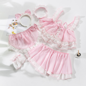 Image 1 - Little Cute Cat Girl Sexy Maid Uniform Temptation Hot Transparent Kawaii Lingerie Ruffle Cosplay Sex Toys Role playing