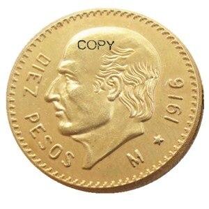 1916 Мексиканская позолоченная копировальная монета 10 песо