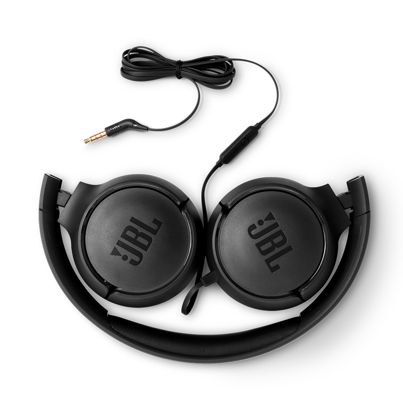Original JBL T500 Wired Pure Bass Headphone Sports Game Gym Headset Foldable Earphone 1 button Remote Light with Mic for iPhone - 3