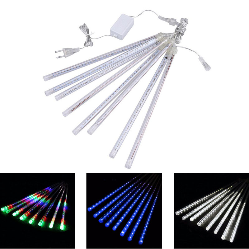 Valentine Waterproof 50cm 8 Tube Holiday Meteor Shower Rain LED String Lights For Indoor Outdoor Garden Wedding Party Decor Tree