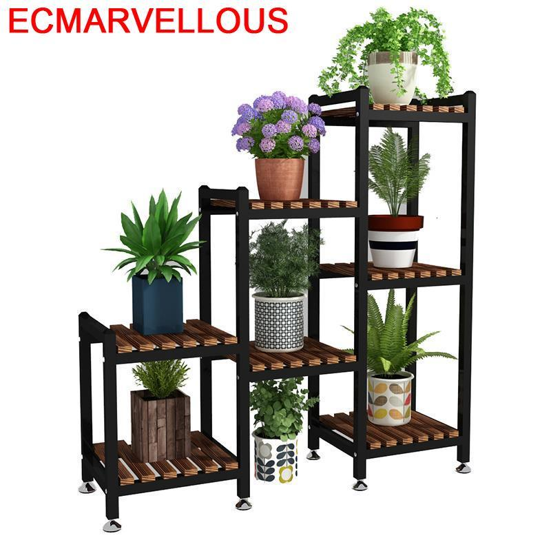 Urbano Madera Wooden Shelves For Estante Mueble Para Plantas Stojak Na Kwiaty Rack Dekoration Balcony Flower Shelf Plant Stand