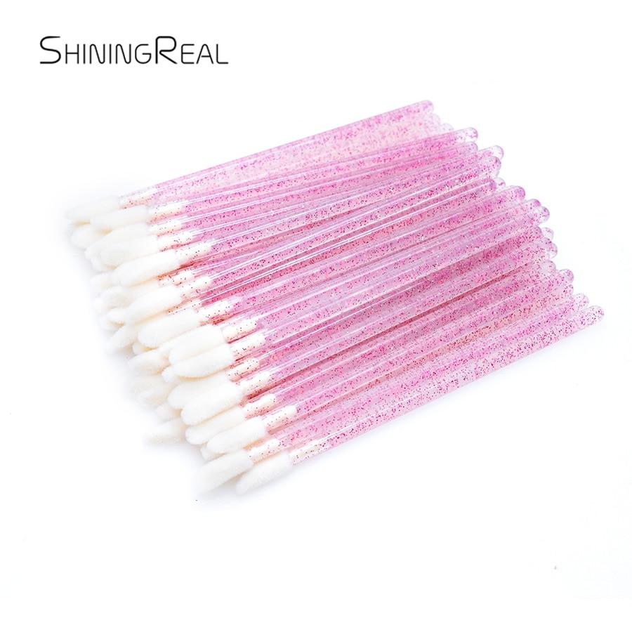 varinhas de cristal lip pincel aplicador descartavel pincel de maquiagem enxertia cilios beleza cleaner limpeza ferramentas