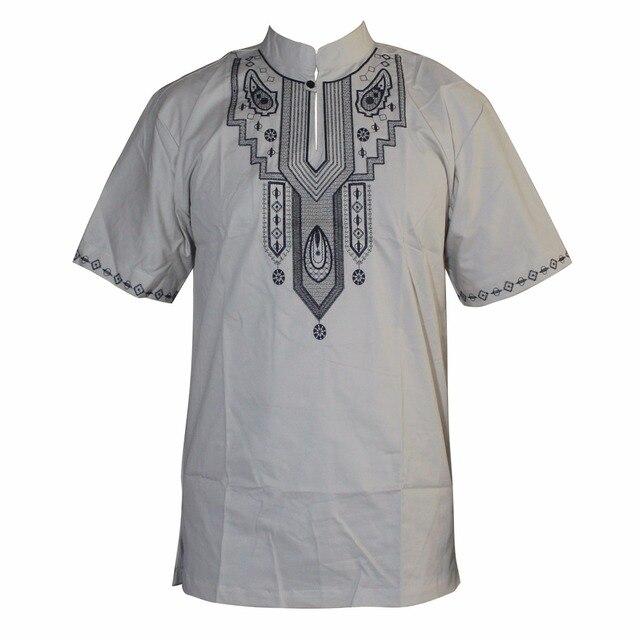 вышивка slim hippie dashiki мусульманские футболки с коротким фотография