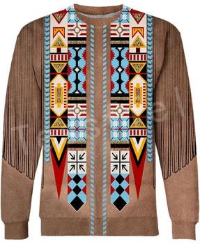 Tessffel Indian Native culture Harajuku Casual Colorful Tracksuit New Fashion Funny 3DPrint Unisex Sweatshirts Mens Womens s-4 1