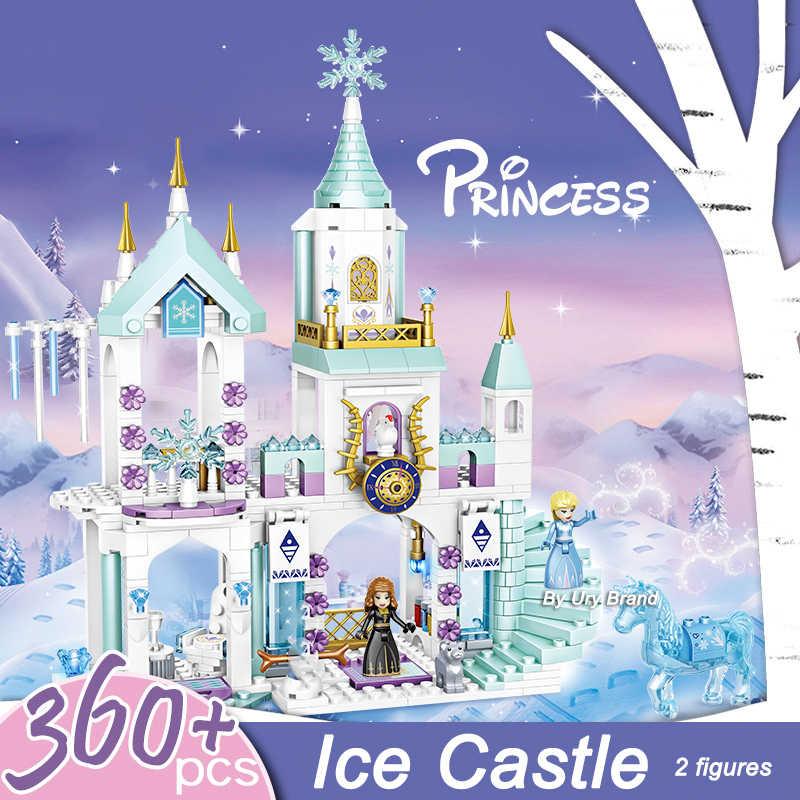 سلسلة الأصدقاء 7008 و E's ملعب الثلج قلعة البيت مجموعة أفلام لتقوم بها بنفسك بناء لعبة المكعبات للبنات الاطفال الهدايا الإبداعية
