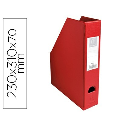 MAGAZINE EXACOMPTA PVC LOMO 70 MM RED COLOR 230X310X70 MM