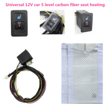 12 V Carbon seat heaters Universal 5 dial for V W Car Heated heating Heater Seat Pads Winter Warmer Seat Covers lumbar support