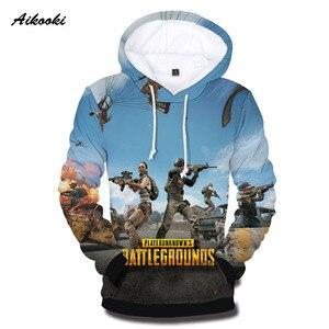 Aikooki Hot Game PUBG Hoodies Men/Women Sweatshirts Fashion Pullover Hoodie Battlegrounds Mens Hooded 3d Street Wear Tracksuits(China)