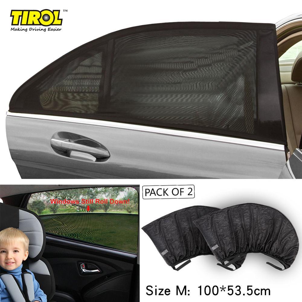 Pair Black Car Window UV Visor Sun Shades Blinds Kids Baby Children Sunshade M