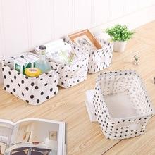 Desktop Storage Basket Sundries Underwear Toy Box Cosmetic Book Organizer Stationery Container Laundry