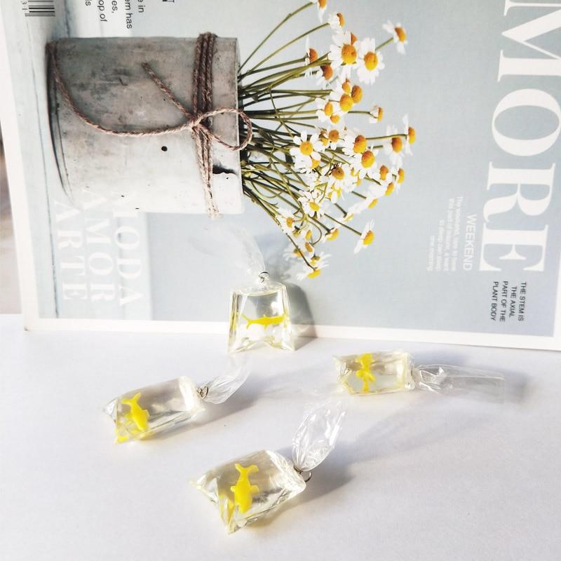 10pcs Transparent Resin Goldfish Charms Small Fish In Water Bag Jewelry Pendant Fish Bag Earrings Pendant Handmade DIY Material 4