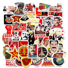 50 Stuks Gemengde Retro Stalin Ussr Cccp Poster Stickers Waterdicht Diy Stickers Voor Laptop Motorfiets Bagage PS4 Decor Decal Speelgoed(China)