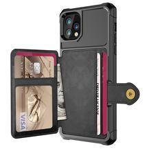 Funda de cuero PU de lujo para iPhone 11 Pro, 7, 8 Plus, X, XS, XR, MAX, SE, 2020, con tapa, con hebilla