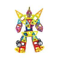 Construcción magnética imán diseñador tamaño grande juego de bloques de construcción juguetes educativos para niños