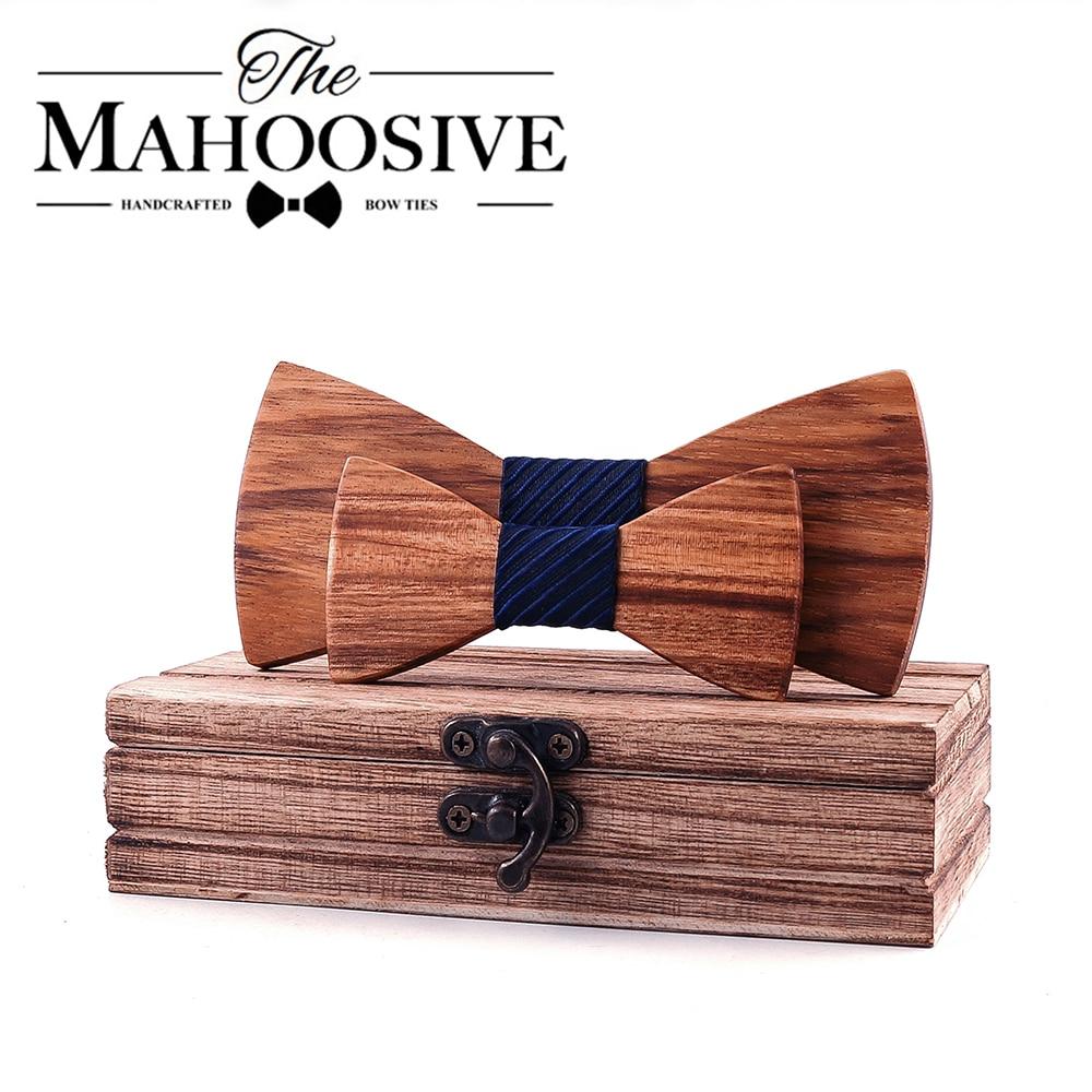 Classic Kid Wooden Bow Tie Boy Girl Baby Children BowTie Fashion Zebra Wood Color Pets Cravate