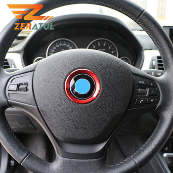 Zeratul for BMW 1 3 4 5 7 Series M3 M5 GT3 E81 E87 F30 34 F10 GT5 X1 X3 X5 X6 Car Steering Wheel Center Ring Cover Trim Sticker image