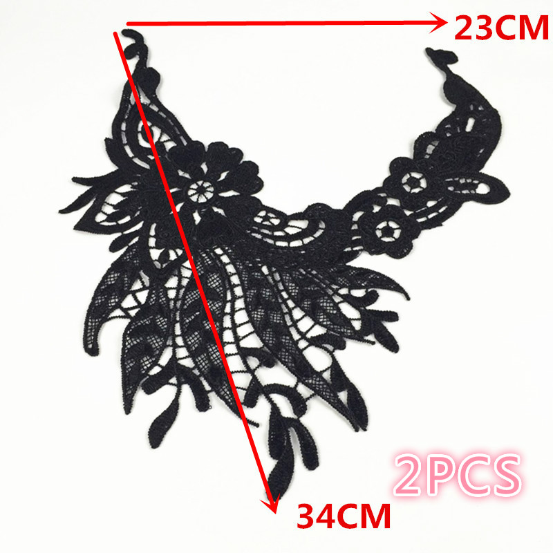 Clothing Polyester Lace Accessories / Lace Lace / Black Fake Collar Hollow Anchovies