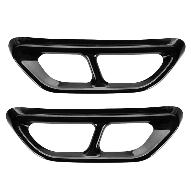 Black Titanium Rear Cylinder Exhaust Pipe Cover Trim Fits For Accord 2018 2019