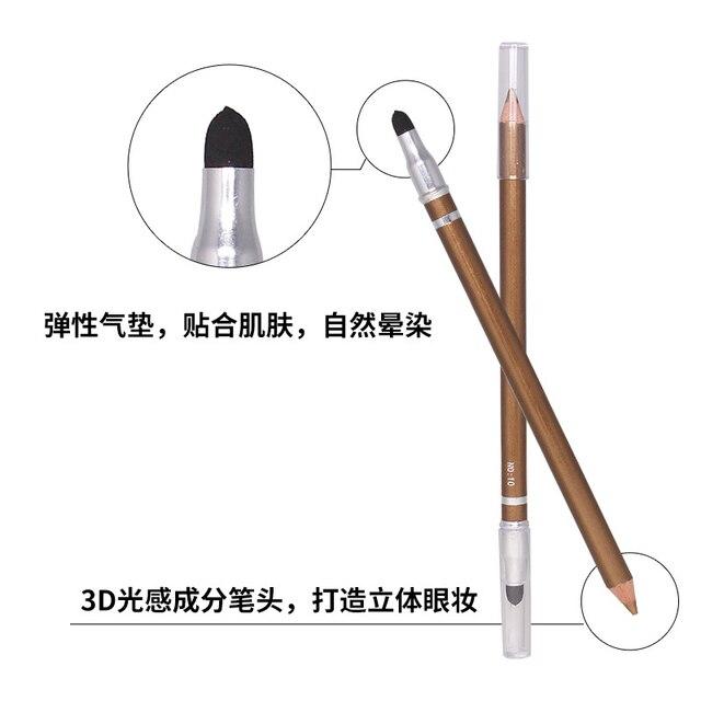 1 Pcs Color Long Lasting Eye Liner Pencil Waterproof Eyeliner Brush Smudge Proof Cosmetic Beauty Makeup Liquid Eye Shadow TSLM1 2