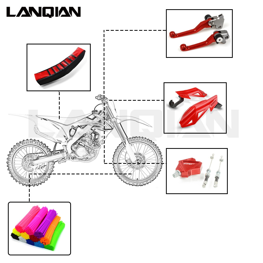 Motorcycle Accessories Brake Clutch Lever Handlebar For Honda CR <font><b>CRF</b></font> SL XR CRM 80 85 150 230 250 <font><b>450</b></font> X R MOTARD AR CRF1000L image