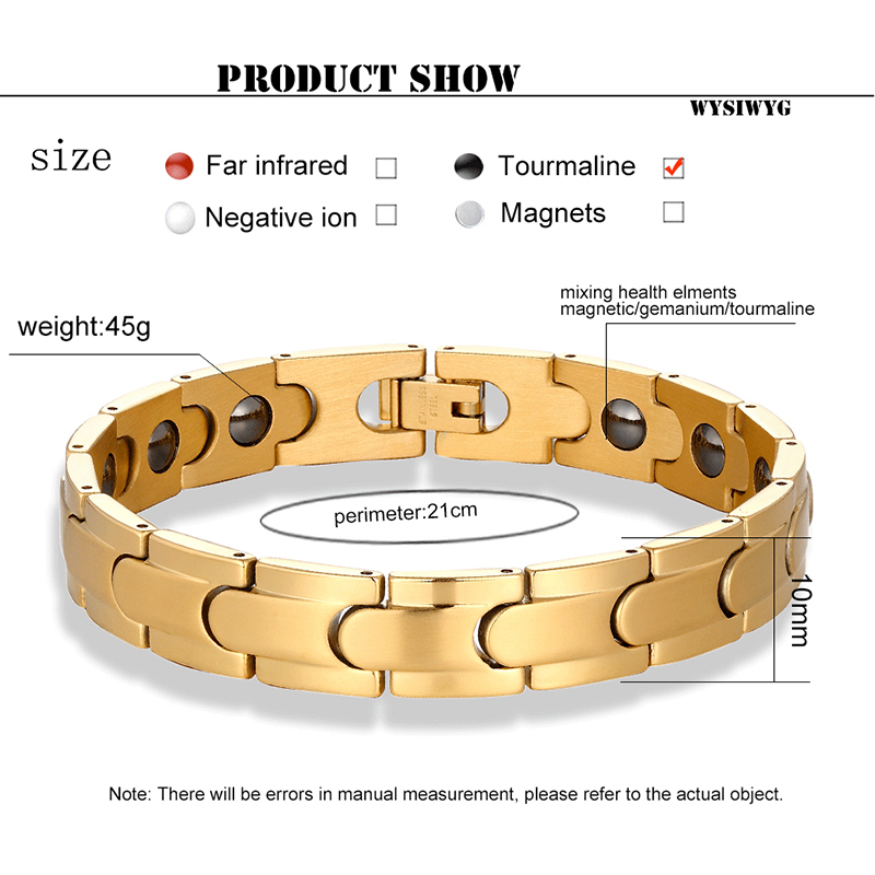 Image 5 - classic Magnetic Hematite Copper Bracelet Men Health Bracelets with Hook Buckle Clasp Therapy Bangles Women Health Care JewelryHologram Bracelets   -