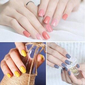 Image 4 - Mizhse gel polonês conjunto para manicure kit 6 pçs/lote cores uv semi permanente híbrido unha arte gel laca uv led lâmpada design