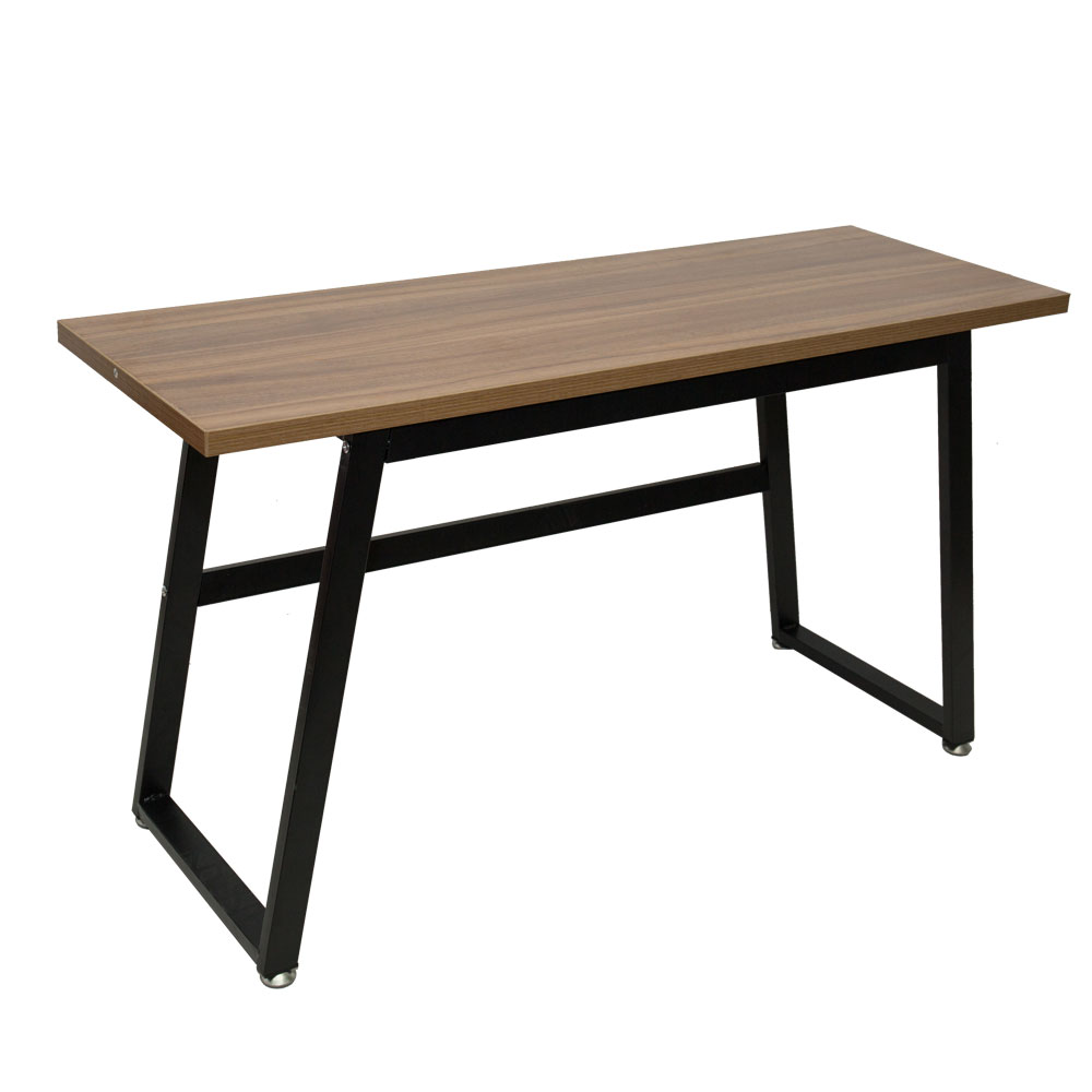 Rustic Wood Computer Desk Vintage Industrial Home Office Desk With Heavy-Duty Metal Base Works As Writing Desk Study Table