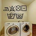 WJWY настенные Стикеры с символикой для белья, для стиральной машины, домашнего декора, кухни, стиральной комнаты, настенные наклейки, художес...
