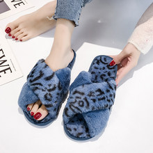 Nova moda cruz banda peludo chinelos para as mulheres macio pelúcia peludo interior senhoras plataforma sapatos dedo do pé aberto fluffy casa chinelos