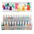 24 цвета Кристальный эпоксидный пигмент УФ-полимерный КРАСИТЕЛЬ DIY ювелирное искусство набор красителей 54DC