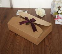 Retro paper box packaging for chocolates, ribbon wedding invitation box,scarf/candy/make up gifts for guests wedding