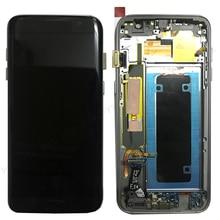 Pantalla LCD OLED de 100% pulgadas para móvil MONTAJE DE digitalizador con pantalla táctil, para SAMSUNG Galaxy S7 edge, G935, G935F, 5,5