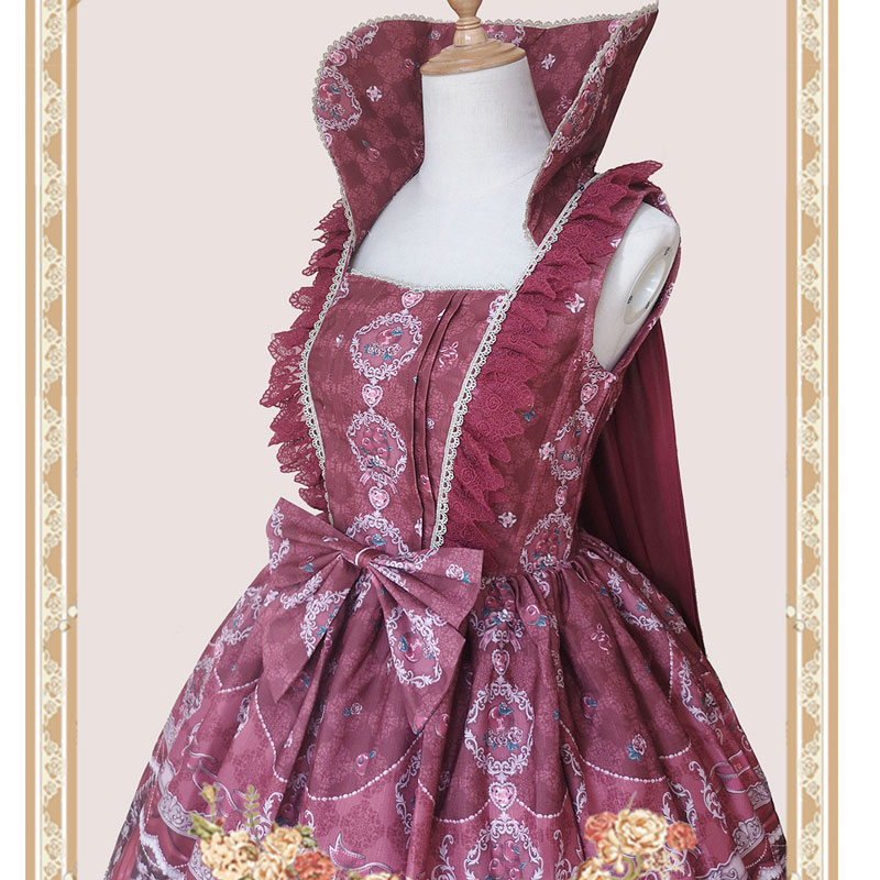 Poisoned Apple ~ Gothic Detachable Stand Collar / Lolita Chiffon Cape By Infanta