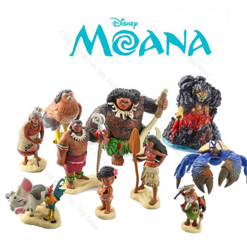 Disney Princess Anime Figure Marine Romance Moana Princess Doll Action Figure Model Toys for Children Kids Birthday Gift  A86 new kids toys watch action figure the avengers 3 spiderman hulk ironman figure model toys children brinquedo birthday gift