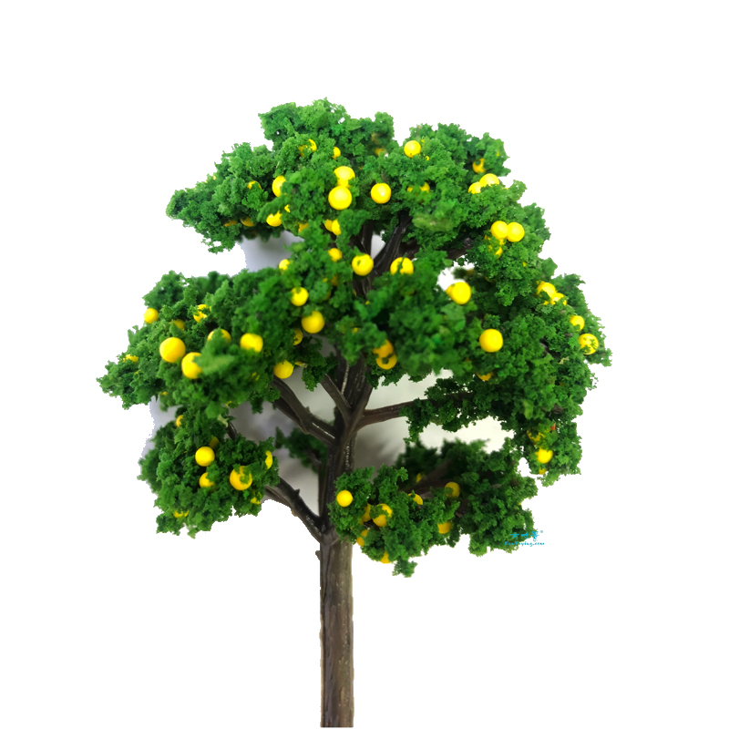 2 PCS 1/87 HO Scale Model(Fruit)Trees Tall In 90mm Landscape Model Train Railway/railroad Layout Scenery DIY Miniature Dioramas