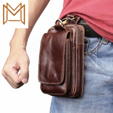 Crazy Horse General Purpose Leather Apply Zipper Vertical Section General Purpose Pocket Protect