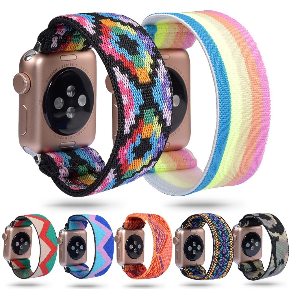 Women Scrunchie Elastic Watch Band For Apple Watch 5 4 Band 38mm/40mm 42mm/44mm Casual Women Girls Strap Bracelet For Iwatch 5 4