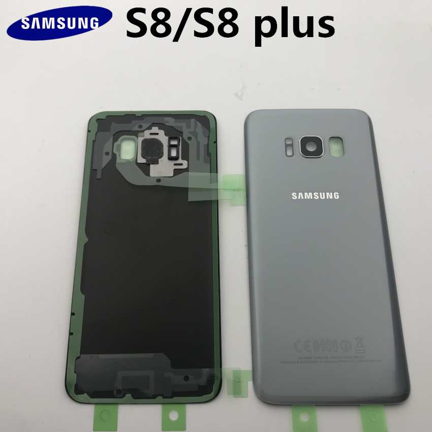 Original Glass For Samsung Galaxy S8 S8 Plus G950F G955F Back Battery Cover Door Rear Housing Case Replacement + Adhesive Sticke|Mobile Phone Housings & Frames| |  - title=