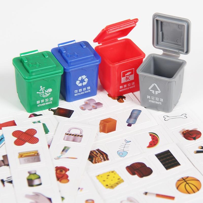 Встряхивание того же абзаца, мусорная игрушка для классификации мусорного ведра, раннее образование, учебная помощь, игра с знанием, Мини му...
