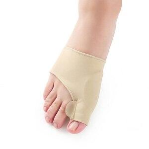 Image 2 - 1 זוג גדול הבוהן בוהן Valgus מתקן מדרסי רגליים טיפול עצם אגודל שמאי תיקון פדיקור גרבי פיקה מחליק