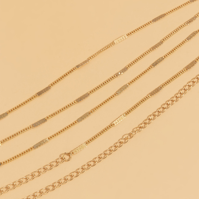 Simple Hip Hop Ins Style Metal Thin Waist Chain Sexy Geometric Beads Single Layer Belly Body Chain for Women Boho Beach Jewelry 4
