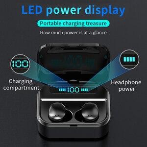 Image 4 - Auriculares TWS inalámbricos por Bluetooth 5,0, auriculares Hifi con pantalla de potencia de 1500 mAh y Control táctil de graves