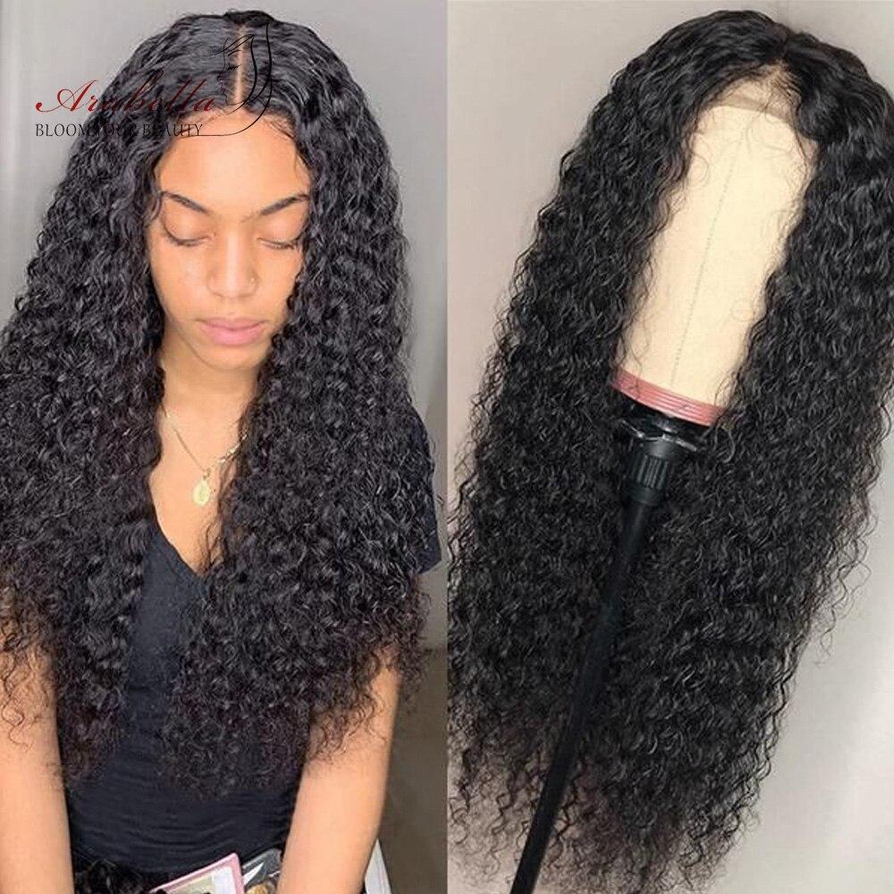 Perruque Lace Front Wig Remy péruvienne 13*4-Arabella | Perruque frontale à dentelle Jerry bouclée avec cheveux de bébé, perruque de cheveux naturels pre-plucked