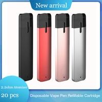 20pc Disposable Vape Pen 280mAh 0.8ML Tank Refillable Cartridge 2.2ohm Atomizer For CDB E Cigarette Pod Pen For Quit Smoking