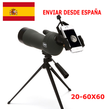 20-60X60 Zoom Spotting Scope with Tripod Long Range Target Shooting Bird Watching Monocular Telescope HD Optical Glass FMC Lens zoom spotting scope with tripod long range target shooting bird watching monocular telescope hd optical glass