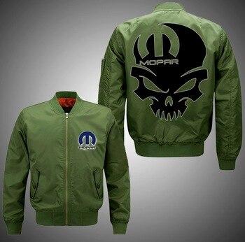 Mopar-Skull Mopar Hoodie Bomber Jacket Unisex Coat Dropshipping USA Plus EU Size Men Women Thick Fleece hoodie