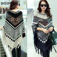 winter autumn Tassel Sweater Poncho Women Knitted Batwing Cloak pullover sweater woman streetwear free size luxury clothes