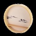 Круглые орнаменты, новые китайские настенные украшения для крыльца, настенные украшения, чайная комната, подвесная настенная креативная ст...