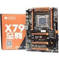 HOT HUANANZHI Deluxe X79 2011 DDR3 PC Desktops Motherboards Computer Computer Motherboards 3xPCI E X16 7.1 Sound Track Crossfire