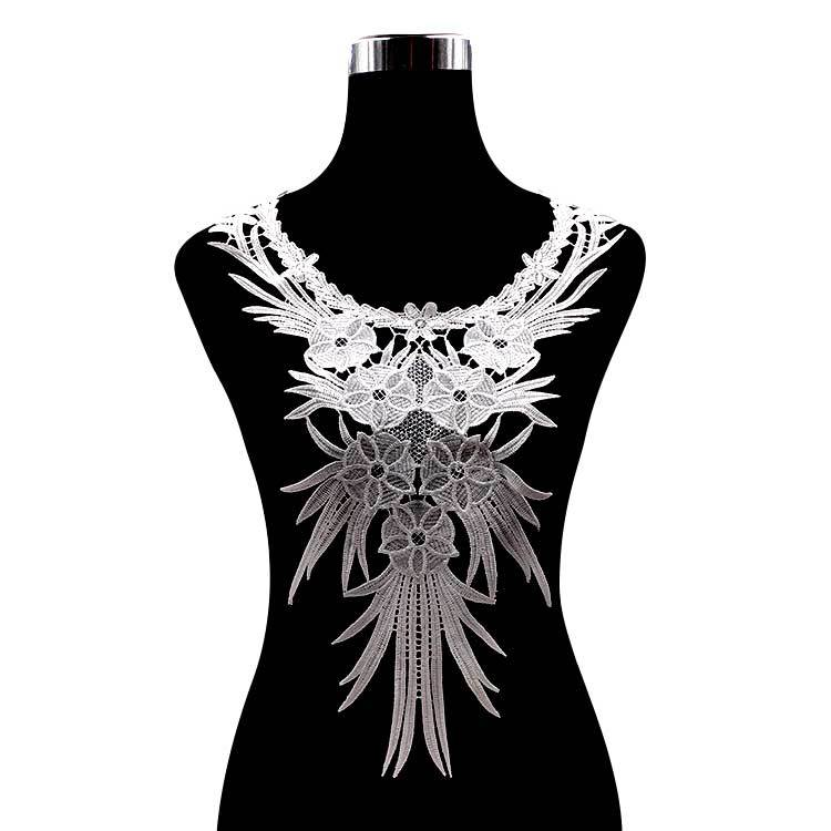 Soluble Lace Embroidery Polyester Light Silk Large-size Chest Flower Collar Embroidery Collar Fake Collar Three-dimensional